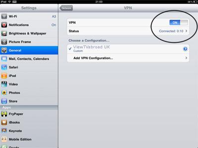نصب VPN روی IPad